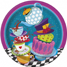 8 Mad Hatter Tea Party Paper Party Plates